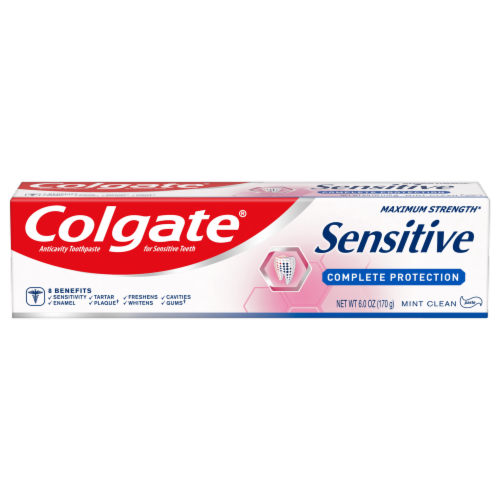 Colgate Sensitive Mint Clean Complete Protection Toothpaste Perspective: front