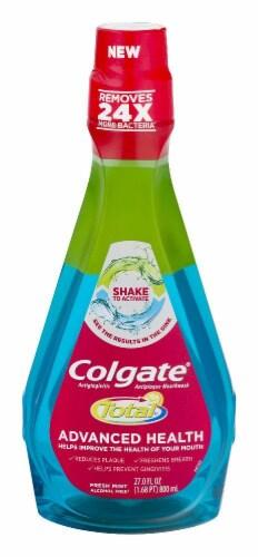 Colgate Total Advance Health Mouthwash Fresh Mint Perspective: front