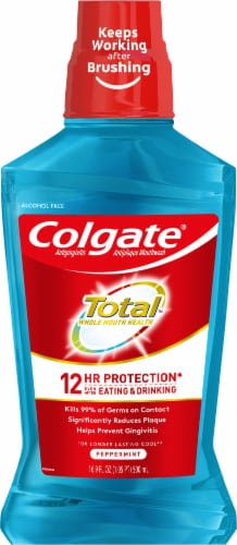 Colgate Total Peppermint Mouthwash Perspective: front