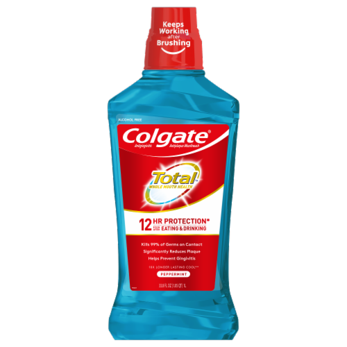 Colgate Total Pro-Shield Peppermint Blast Mouthwash Perspective: front