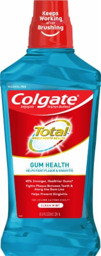 Colgate Total Gum Health Clean Mint Mouthwash Perspective: front