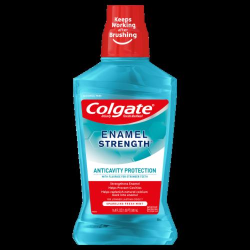 Colgate Enamel Health Fresh Mint Mouthwash Perspective: front