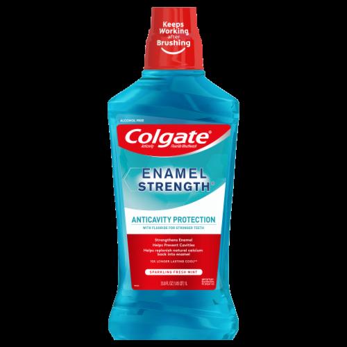 Colgate Enamel Health Sparkling Fresh Mint Mouthwash Perspective: front