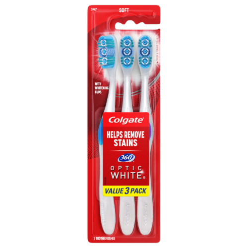 Colgate  360 Optic White Toothbrush Soft Perspective: front