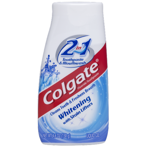 Colgate 2 in 1 Liquid Gel Whitening Toothpaste Perspective: front