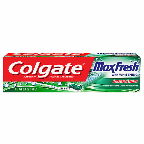 Colgate Max Fresh Whitening Clean Mint Toothpaste Perspective: front