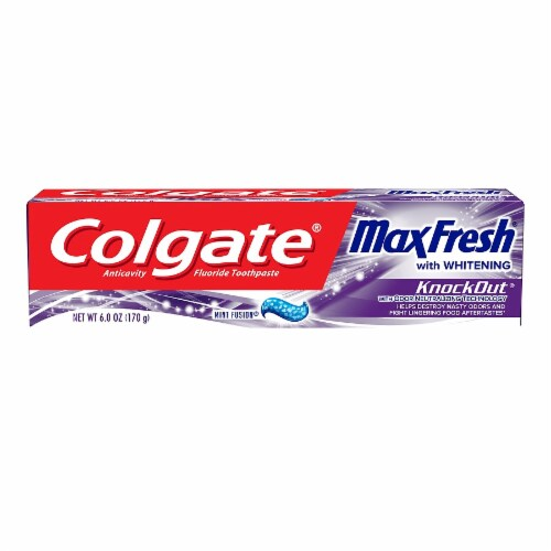 Colgate Max Fresh Gel Toothpaste Knockout Perspective: front