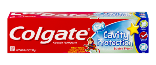 Colgate Kids Cavity Protection Bubble Fruit Toothpaste Perspective: front