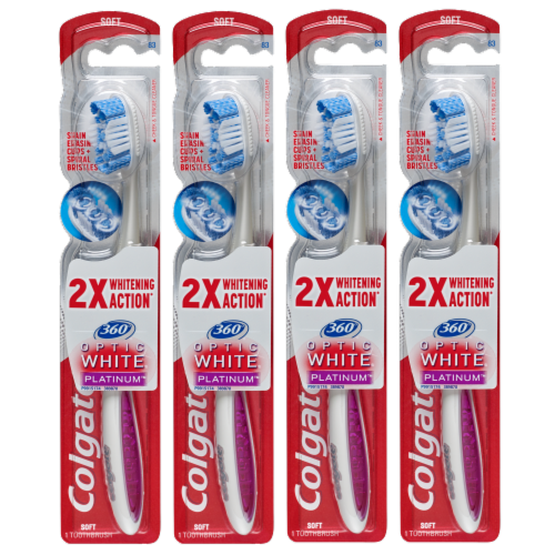 Colgate 360 Optic White Platinum Toothbrushes Perspective: front