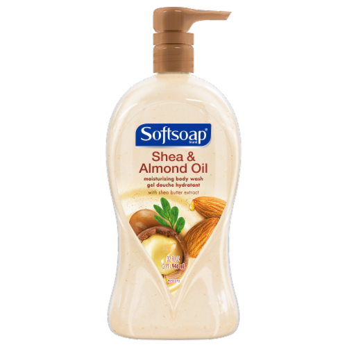 Softsoap Shea Butter and Almond Oil Body Wash Perspective: front