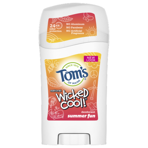 Tom's of Maine Summer Fun Wicked Cool Kids Stick Deodorant Perspective: front