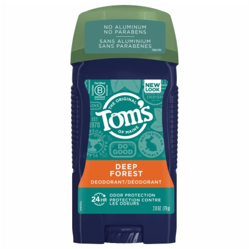 Tom's of Maine Deep Forest Long Lasting Men's Wide Stick Deodorant Perspective: front