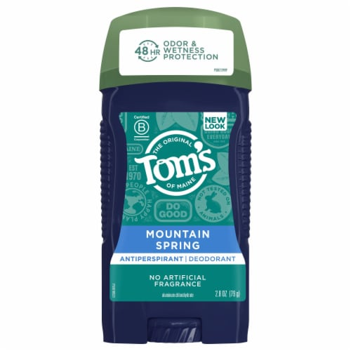 Tom's of Maine for Men Mountain Spring Antiperspirant Deodorant Perspective: front