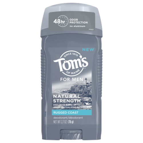 Tom's of Maine Rugged Coast Men's Natural Strength Deodorant Perspective: front