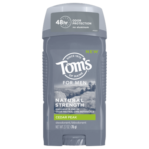 Tom's of Maine Cedar Peak Men's Natural Strength Deodorant Perspective: front