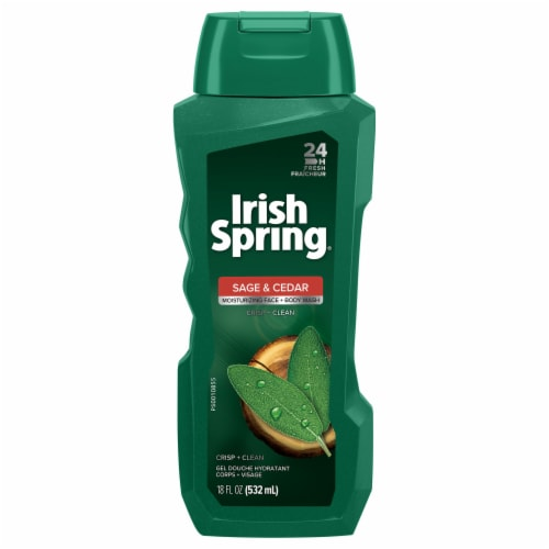 Irish Spring Sage and Cedar Body Wash Perspective: front