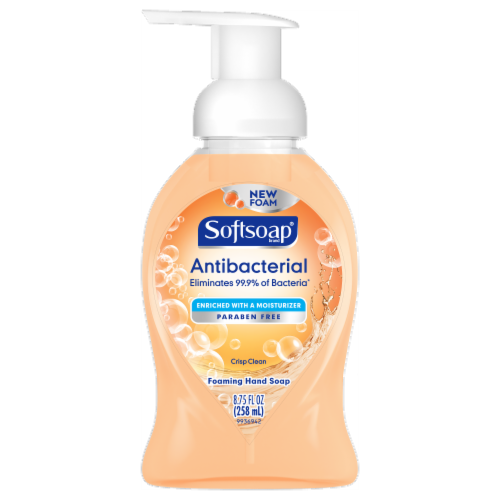 Softsoap Antibacterial Crisp Clean Foaming Hand Soap Perspective: front