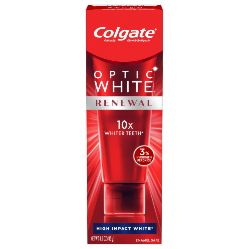 Colgate Optic White Renewal High Impact White Toothpaste Perspective: front