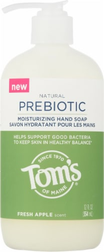 Tom's of Maine Natural Prebiotic Fresh Apple Moisturizing Hand Soap Perspective: front