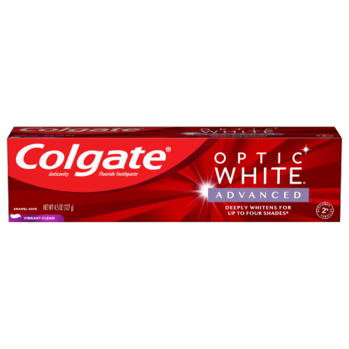 Colgate Optic White Advanced Vibrant Clean Toothpaste Perspective: front