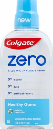 Colgate Zero Healthy Gums Natural Spearmint Mouthwash Perspective: front