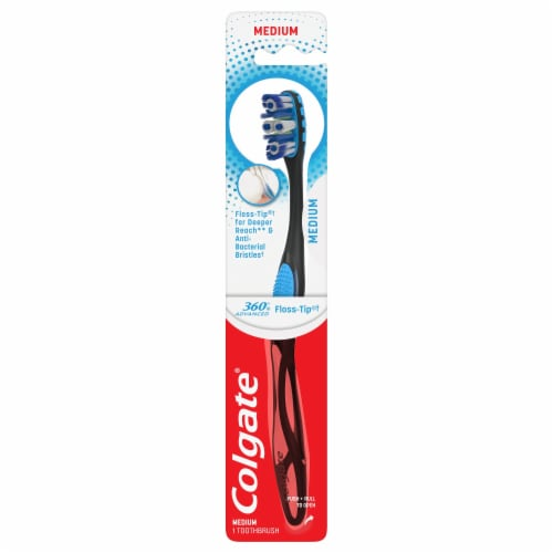 Colgate 360 Advanced Medium Toothbrush Perspective: front