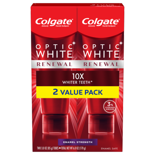 Colgate Optic White Renewal Toothpaste Perspective: front