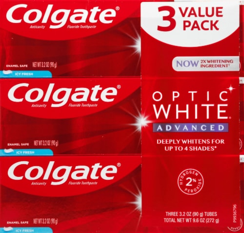 Colgate Optic White Icy Fresh Toothpaste Perspective: front