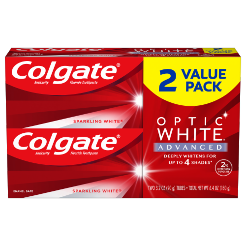 Colgate Optic White Advanced Sparkling White Toothpaste Perspective: front