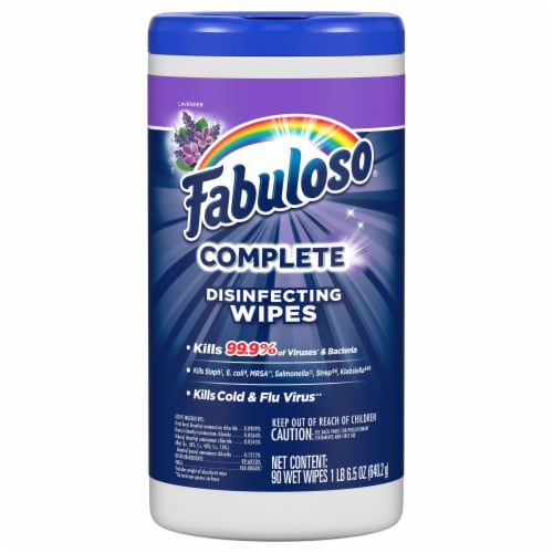 Fabuloso Lavender Complete Disinfecting Wipes Perspective: front
