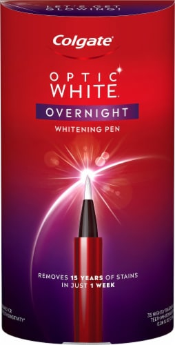 Colgate Optic White Overnight Whitening Pen Perspective: front
