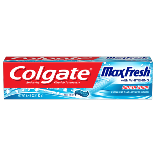 Colgate Max Fresh Cool Mint Anticavity Fluoride Toothpaste Perspective: front