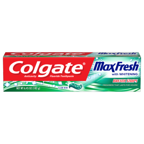 Colgate Max Fresh Clean Mint Anticavity Fluoride Toothpaste Perspective: front