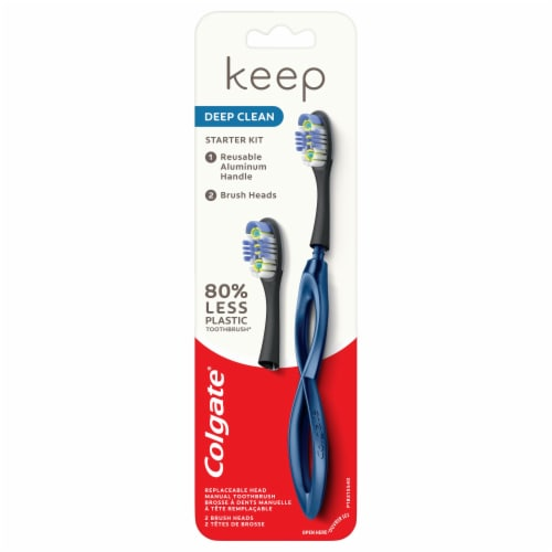 Colgate Keep Deep Clean Soft Bristle Toothbrush Starter Kit Perspective: front