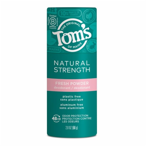Tom's of Maine Natural Strength Fresh Powder Women's Deodorant Perspective: front