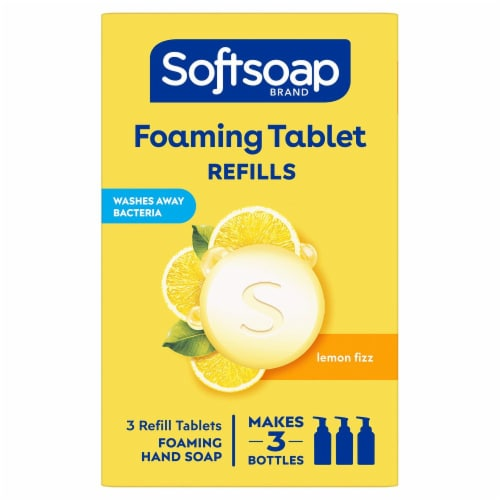 Softsoap Foaming Tablets Lemon Fizz Hand Wash Perspective: front