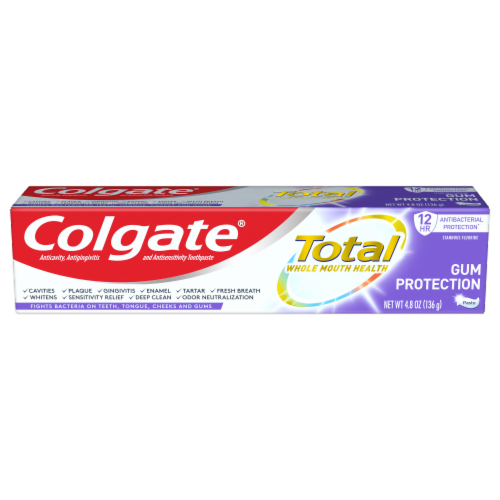 Colgate Total Whole Mouth Health Gum Protection Toothpaste Perspective: front
