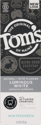 Tom's of Maine Luminous White with Charcoal Natural Toothpaste Perspective: front