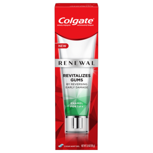 Colgate Renewal Enamel Fortify Whitening Toothpaste Perspective: front