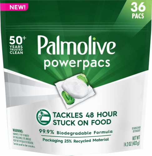 Palmolive Power Pacs Dishwasher Detergent Perspective: front