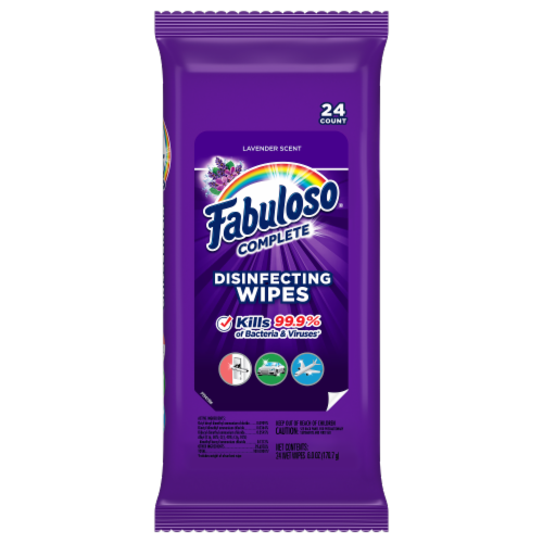 Fabuloso Complete Lavender Scent Disinfecting Wipes Perspective: front