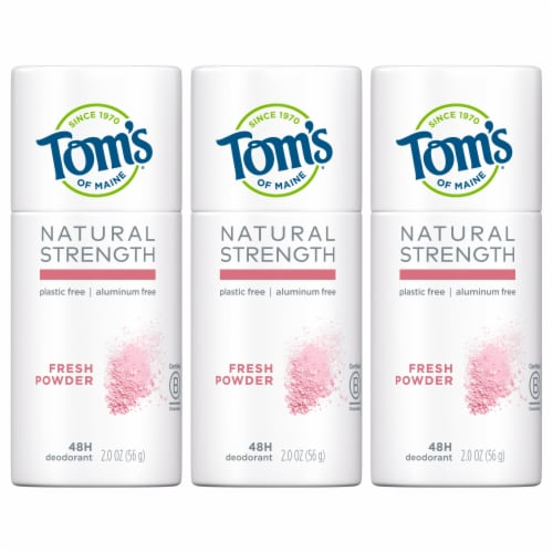Tom's of Maine Natural Strength Fresh Powder Women's Deodorant Stick Perspective: front