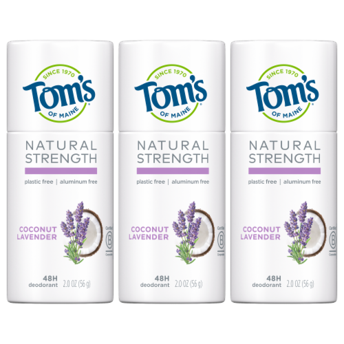 Tom's of Maine Natural Strength Coconut Lavender Women's Aluminum Free Deodorant Perspective: front