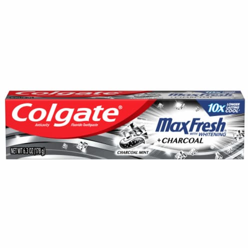 Colgate Max Fresh Charcoal Mint Toothpaste Perspective: front