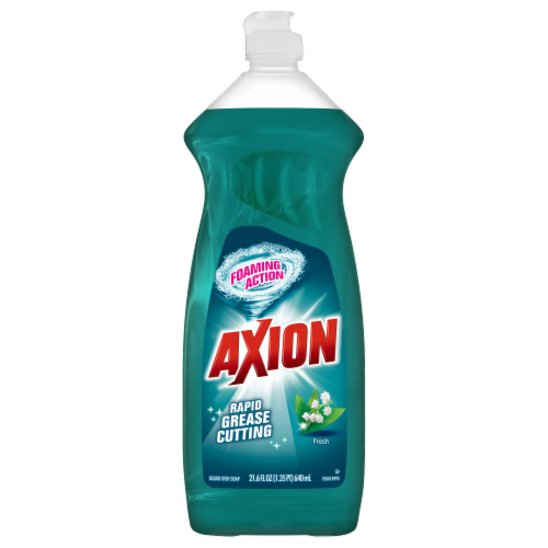 Axion Foaming Action Fresh Liquid Dish Soap Perspective: front