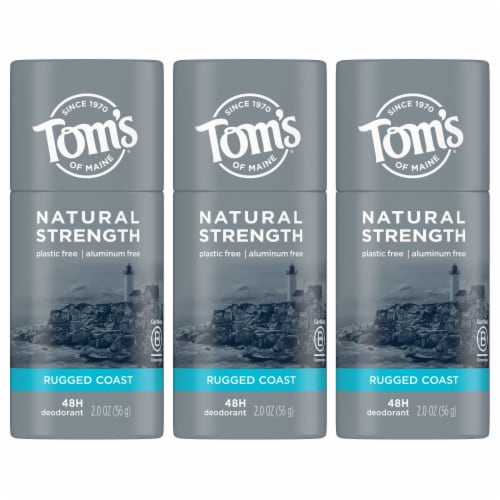 Tom's of Maine Natural Strength Rugged Coast Men's Deodorant Stick Perspective: front