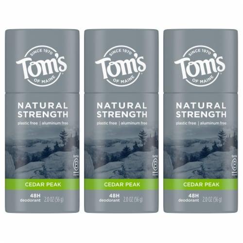 Tom's of Maine Natural Strength Cedar Peak Men's Deodorant Stick Perspective: front
