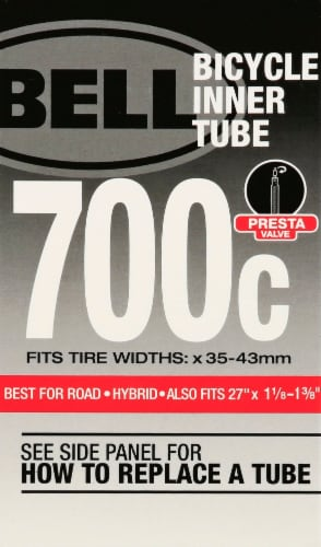 Bell 700c Presta Valve Bicycle Inner Tube Perspective: front