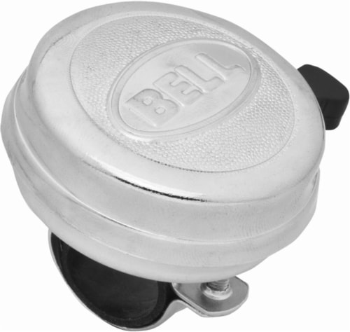 Bell Dinger 200 Bike Bell - Chrome Perspective: front