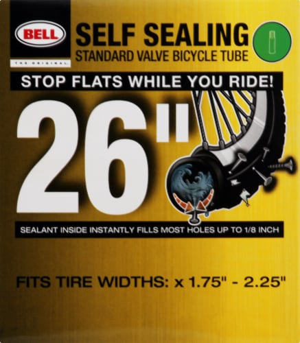 Bell Self Sealing Standard Valve Bicycle Tube Perspective: front